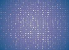 Fondo esadecimale della viola pallida di codice di vettore retro Grandi dati ed incisione di programmazione, decrittazione profon illustrazione vettoriale