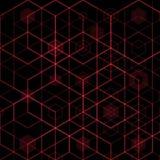 Fondo esagonale astratto con colore rosso, illustrazione ENV 10 di vettore illustrazione di stock