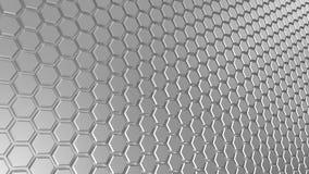 Fondo esagonale del metallo grigio astratto Fotografia Stock Libera da Diritti