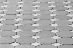 Fondo esagonale della pavimentazione del mattone Fotografia Stock Libera da Diritti