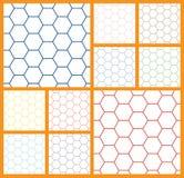 Fondo esagonale di bianco delle cellule Fotografia Stock