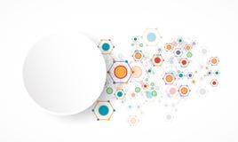 Fondo esagonale di tecnologia di colore della rete illustrazione vettoriale