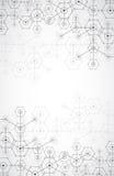 Fondo esagonale di tecnologia luminosa bianca astratta illustrazione vettoriale