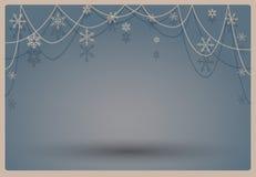 Fondo escénico del azul del invierno del vintage libre illustration