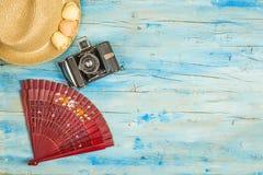 Fondo español de las vacaciones de verano Imagen de archivo libre de regalías