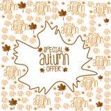 Fondo especial de la oferta del otoño Imágenes de archivo libres de regalías