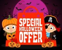 Fondo especial del diseño de la oferta de Halloween Imagen de archivo libre de regalías
