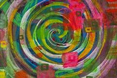 Fondo espiral colorido abstracto Foto de archivo libre de regalías