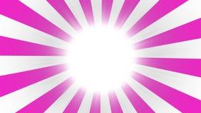 Fondo estallado rosado Fondo cómico con el espacio para su logotipo o título Modelo retro del sol del estilo del vintage del resp stock de ilustración