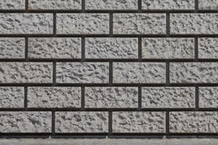 Fondo - esterno di costruzione con un modello della muratura Immagini Stock Libere da Diritti