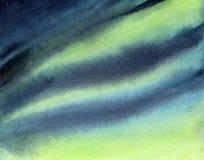 Fondo estilizado de la pendiente de la acuarela del cielo de la aurora libre illustration
