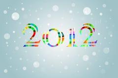 Fondo estilizado de la tarjeta del Año Nuevo 2012 Ilustración del Vector