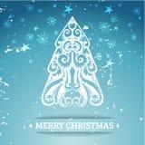 Fondo estilizado ornamental de la Navidad Fotografía de archivo libre de regalías