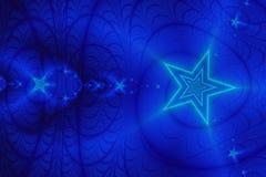 Fondo estrellado azul ilustración del vector