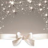 Fondo estrellado beige de la Navidad. Imagen de archivo libre de regalías