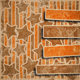Fondo estrellado colorido de Grunge ilustración del vector