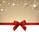 Fondo estrellado de la Navidad con la cinta. Foto de archivo