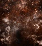 Fondo estrellado del cielo Foto de archivo