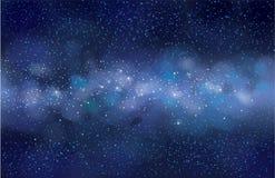 Fondo estrellado del cielo del vector Fotografía de archivo libre de regalías