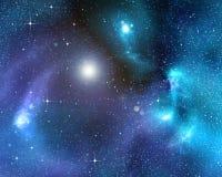 Fondo estrellado del espacio exterior profundo stock de ilustración