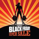 Fondo estupendo de la venta de Black Friday Fotografía de archivo libre de regalías
