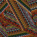 Fondo etnico geometrico di motivi Fotografie Stock