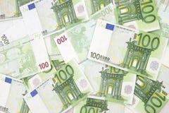Fondo euro 100 Fotografía de archivo libre de regalías