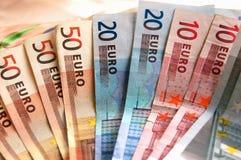 Fondo euro Foto de archivo libre de regalías