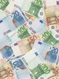 Fondo euro Fotos de archivo