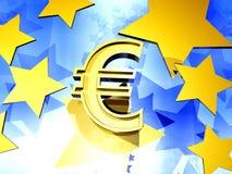 Fondo euro Imagen de archivo libre de regalías