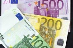 Fondo euro Fotografía de archivo