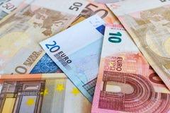 Fondo euro de la moneda Imagen de archivo libre de regalías