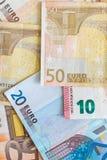 Fondo euro de la moneda Fotos de archivo libres de regalías