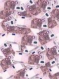 Fondo euro de los billetes de banco Fotografía de archivo libre de regalías