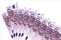 Fondo euro de los billetes de banco Foto de archivo