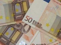 Fondo euro de los billetes de banco Fotos de archivo libres de regalías