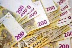 Fondo euro del dinero Fotografía de archivo libre de regalías