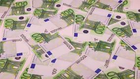 Fondo euro del dinero del efectivo almacen de metraje de vídeo