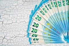 fondo euro del efectivo pila de billetes de banco euro de papel como parte de t foto de archivo libre de regalías