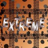 Fondo extremo, abstracto de las pistas del neumático de coche y puntos de la suciedad fotos de archivo libres de regalías