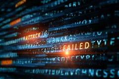 Fondo fallado del ataque imagenes de archivo