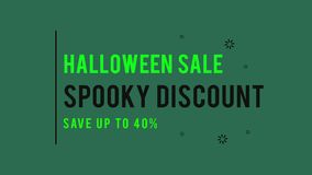 Fondo fantasmagórico de la animación del tema del descuento de la venta de Halloween ilustración del vector
