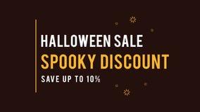 Fondo fantasmagórico de la animación del tema del descuento de la venta de Halloween stock de ilustración