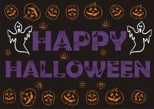 Fondo fantasmagórico Giftwrap del papel pintado de Halloween ilustración del vector
