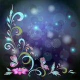 Fondo, farfalle e fiori Fotografie Stock
