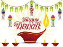 Fondo felice astratto di Diwali illustrazione vettoriale