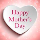 Fondo felice del cuore di giorno di madre Immagini Stock