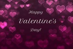 Fondo felice dell'estratto di giorno del ` s del biglietto di S. Valentino Immagini Stock Libere da Diritti