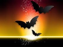 Fondo felice dell'icona del pipistrello del fantasma di Halloween Fotografia Stock Libera da Diritti