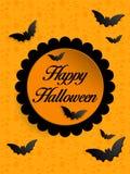 Fondo felice dell'icona del pipistrello del fantasma di Halloween Fotografie Stock Libere da Diritti